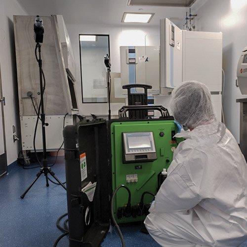 Vibraclean Biosafety Management, iHP decontamination